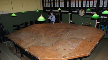 Historic Battle of Britain map protected by Inplas Fabrications